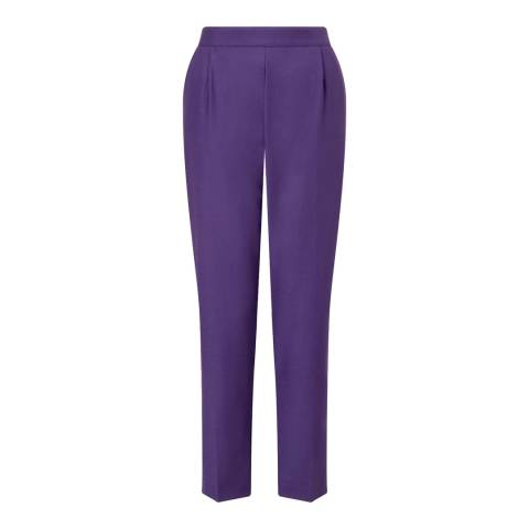 Jigsaw Purple Stretch Wool Peg Trousers