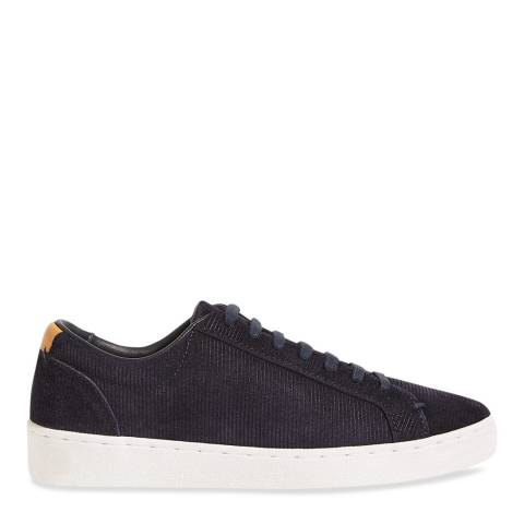 Jigsaw Navy Amour Cord Suede Trainers