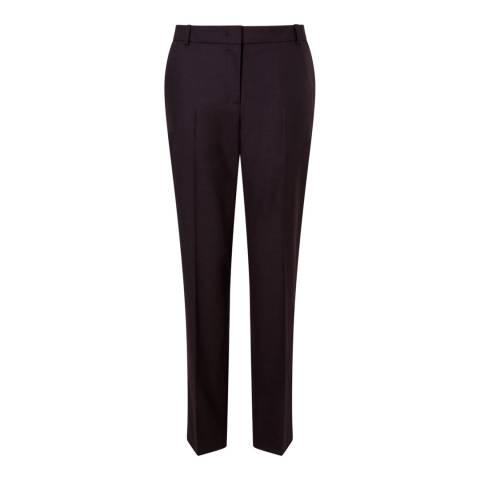 Jigsaw Plum Flannel London Trousers