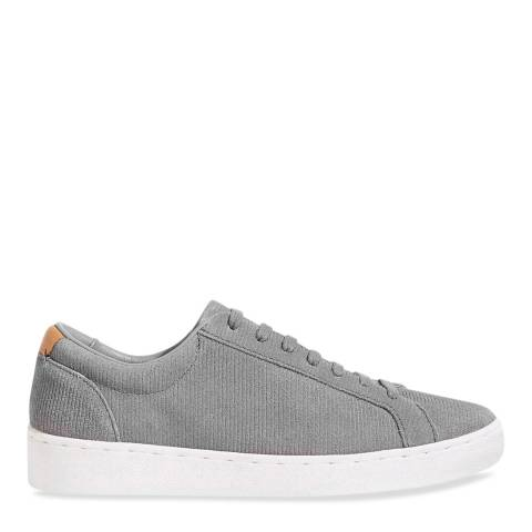 Jigsaw Grey Amour Cord Suede Trainers