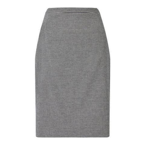Jigsaw Monochrome Micro Check Pencil Skirt