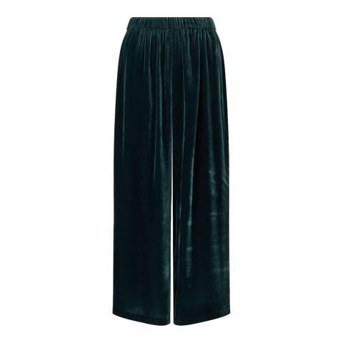 Jigsaw Deep Green Gathered Trousers