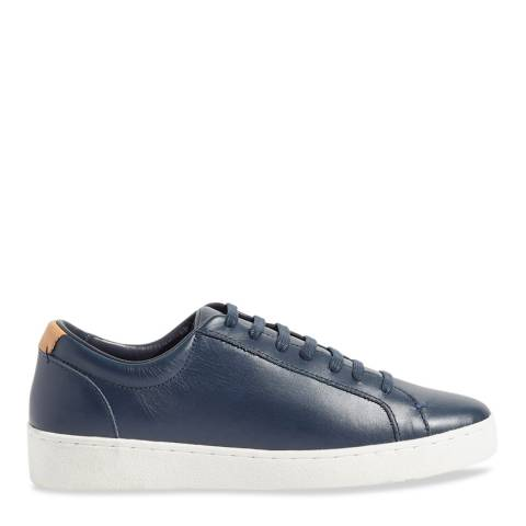 Jigsaw Navy Amour Lace Up Trainers