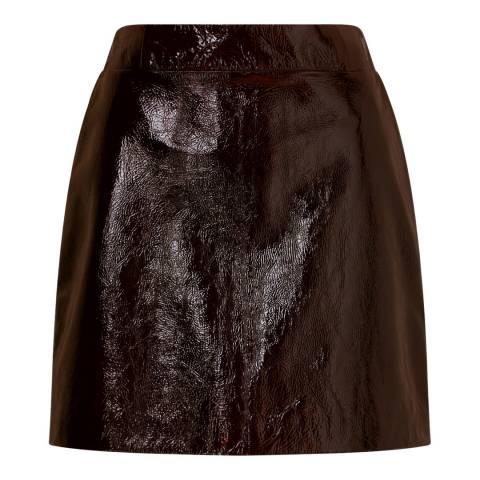 Jigsaw Bronze Patent Leather Mini Skirt