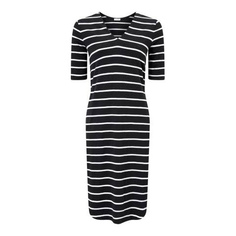 Jigsaw Black Stripe Relaxed Dress