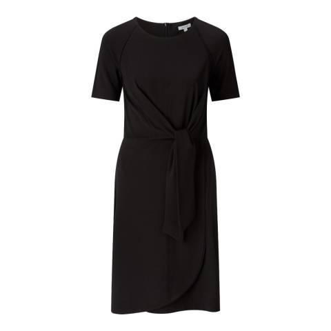 Jigsaw Black Knot Waist Jersey Dress