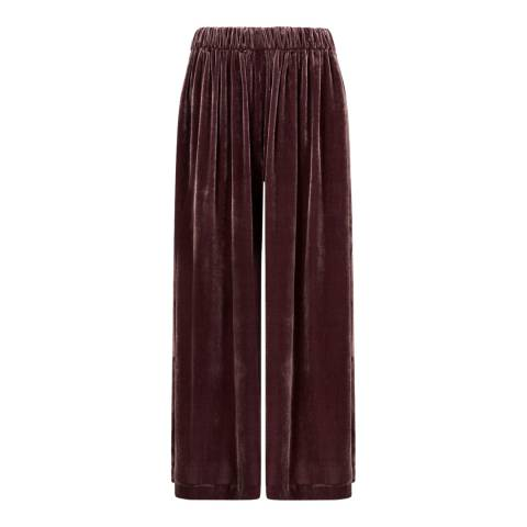 Jigsaw Cherry Wide Flared Gathered Trousers