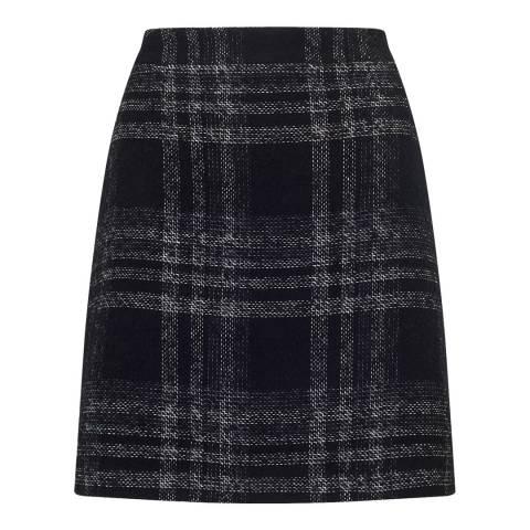 Jigsaw Monochrome A Line Mini Skirt
