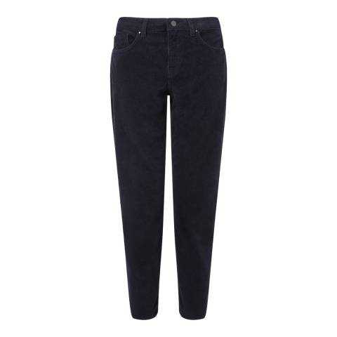 Jigsaw Navy Dalston Cord Trousers