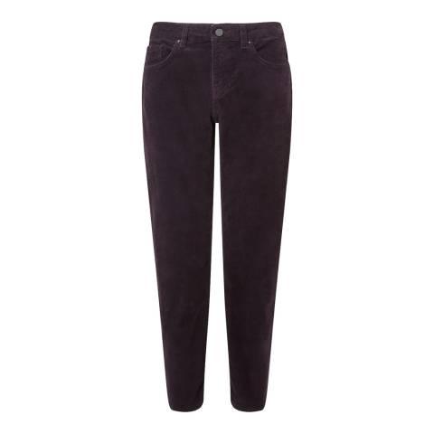 Jigsaw Deep Mauve Dalston Cord Trousers