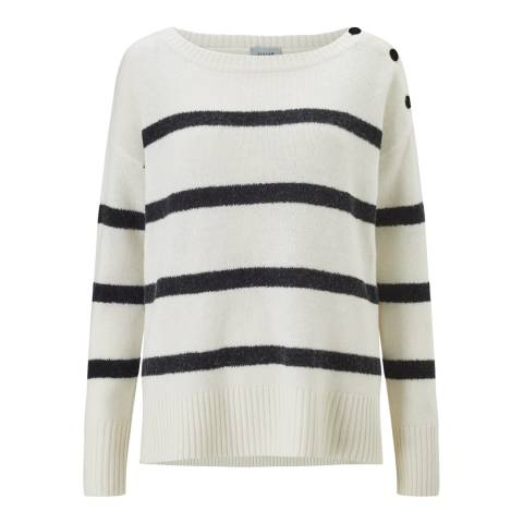 Jigsaw Ivory Fluffy Stripe Jumper