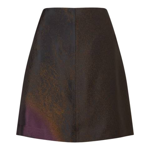 Jigsaw Plum Wind Spiral Mini Skirt