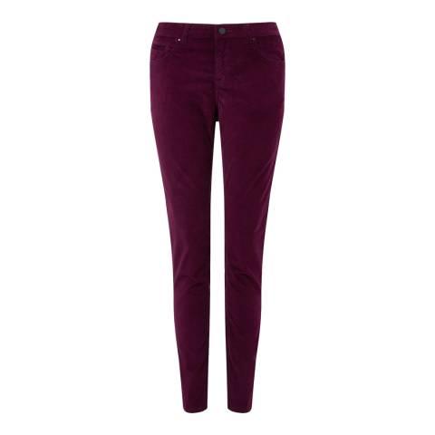 Jigsaw Deep Mauve Richmond Velvet Jeans