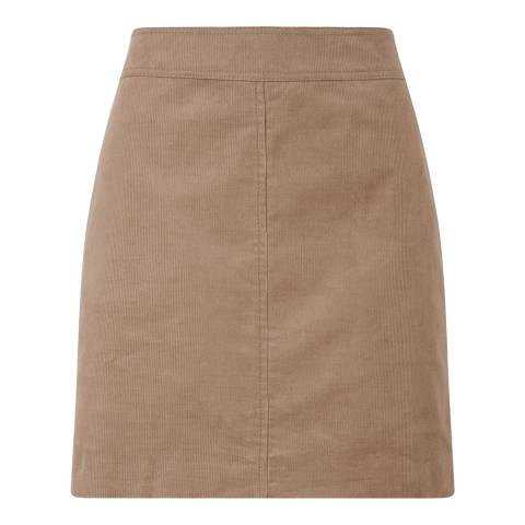 Jigsaw Camel Cord Mini Skirt