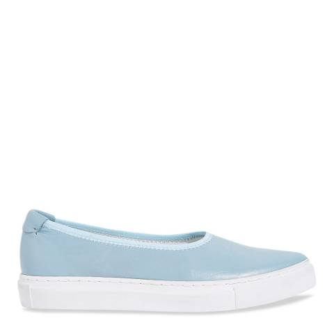 Jigsaw Blue Agde Open Soft Leather Trainers