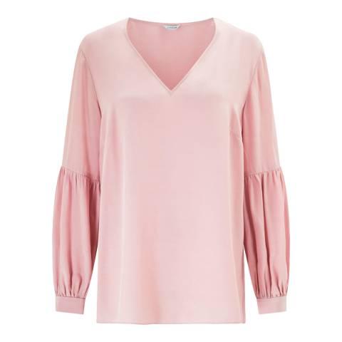 Jigsaw Pink Bishop Sleeve Top