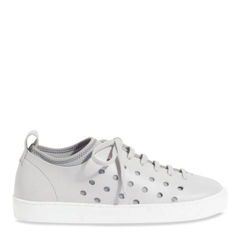 Jigsaw Grey Antibes Perforated Trainers