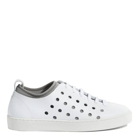 Jigsaw White Antibes Perforated Trainers