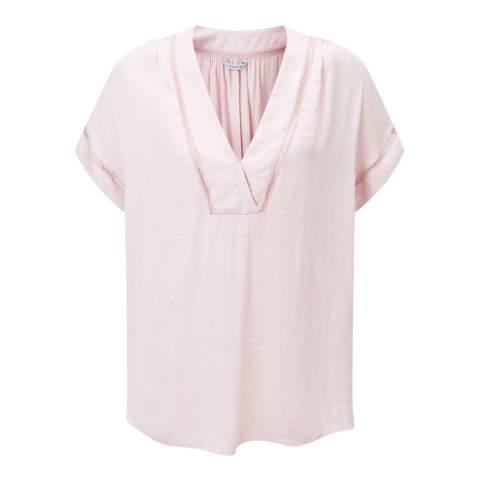 Jigsaw Pink Crocus Drape Top