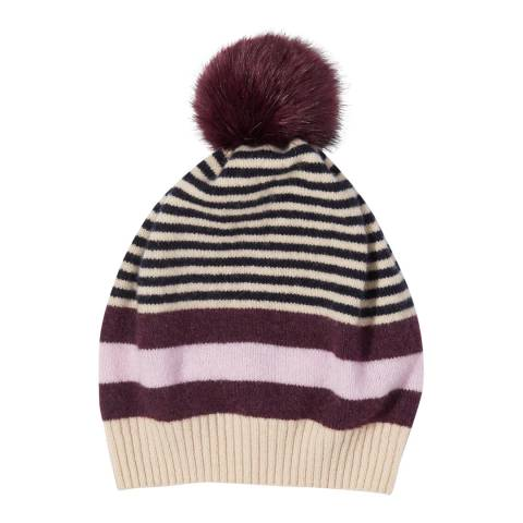 Jigsaw Wine Kilda Faux Fur Pom Hat