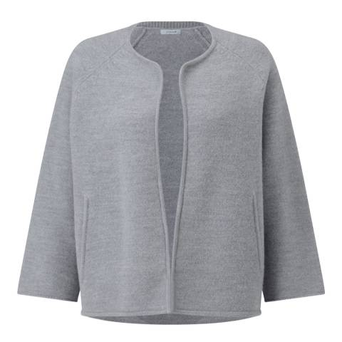 Jigsaw Grey Wool Side Zip Jacket
