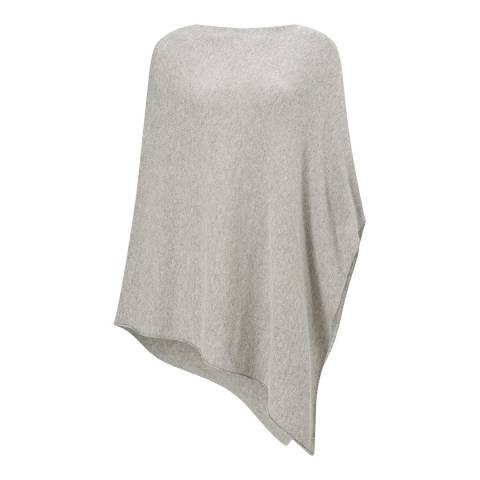 Jigsaw Pale Grey Wool Cash Blend Long Poncho