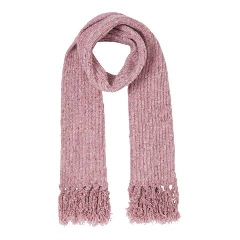 Jigsaw Pink Chunky Donegal Wool Tassel Scarf
