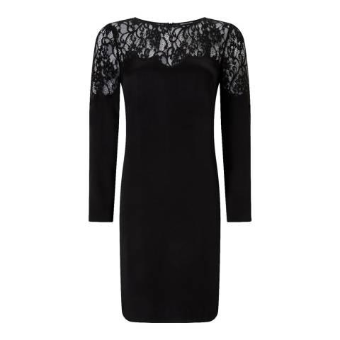 Jigsaw Black Lace Shift Dress