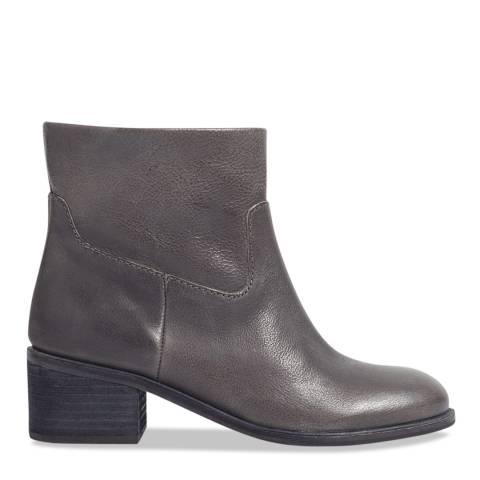 Jigsaw Grey Sienna Block Heel Boots