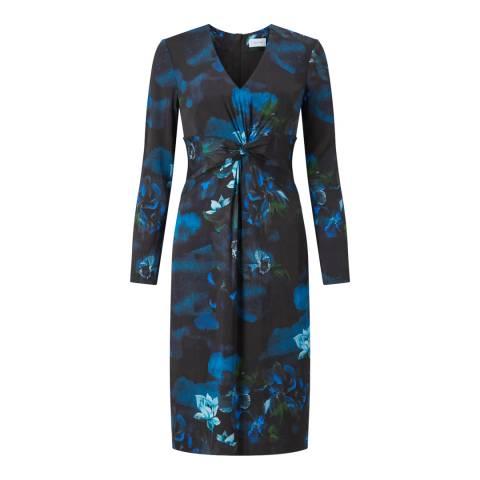 Jigsaw Navy Floral Twist Dress