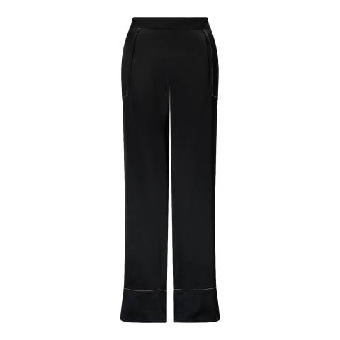 Jigsaw Black Stitch Wide Leg Trousers