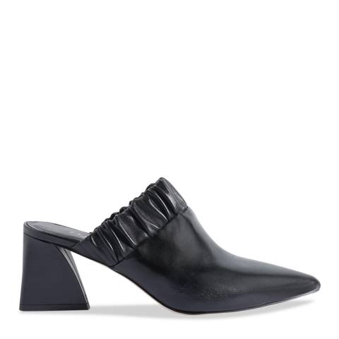 Jigsaw Black Ren Ruched Heeled Mules