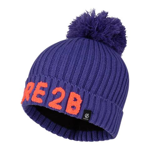 Dare2B Purple Indication Logo Beanie