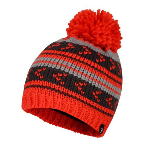 Dare2B Red/Black Plucky Striped Beanie
