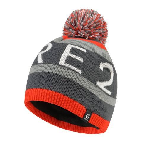 Dare2B Red/Grey Vindicate Logo Beanie