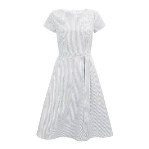 Hobbs London Blue Stripe Danielle Dress
