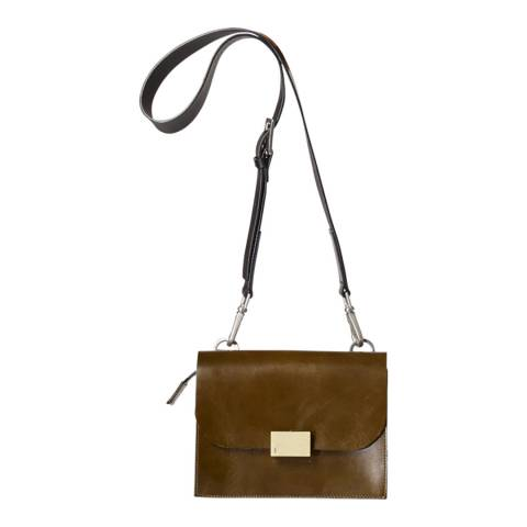 Ally Capellino Olive Lockie Crossbody Leather Bag
