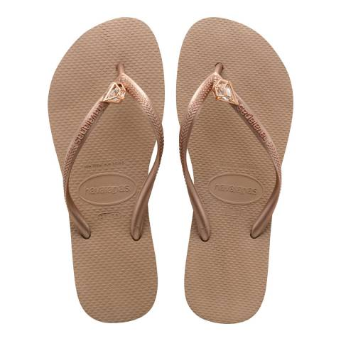 Havaianas Rose Gold Slim Epic Flip Flops