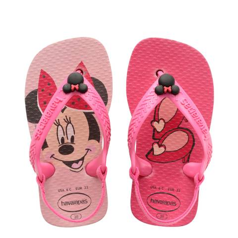 Havaianas Baby Pink Minnie Mouse Flip Flops