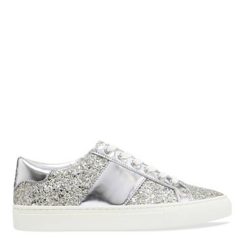 Tory Burch Silver Carter Lace Up Sneaker