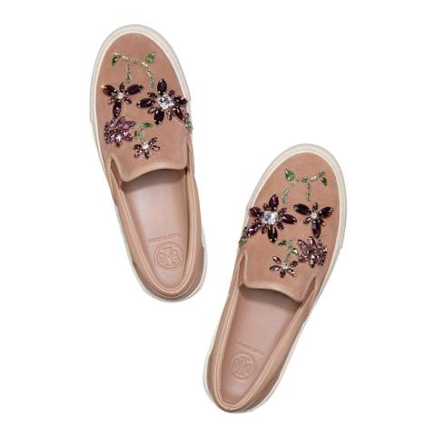 Tory Burch Perfect Sand Meadow Embellished Slip On Sneaker