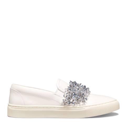 Tory Burch White & Silver Logan Sneaker