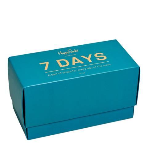 Happy Socks Blue/Multi 7 Days Gift Box