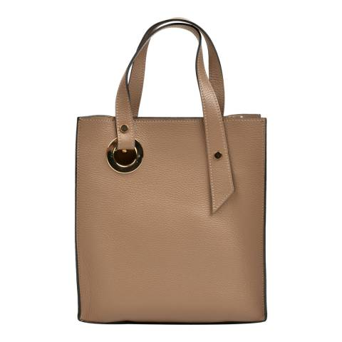 Roberta M Rust Leather Handbag