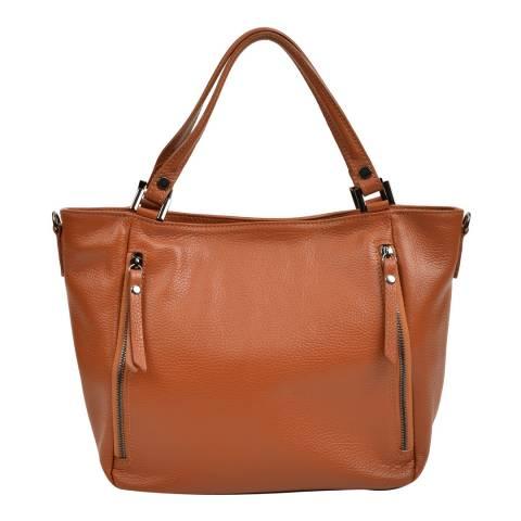 Roberta M Brown Leather Handbag