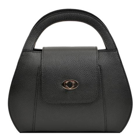 Roberta M Black Leather Handbag