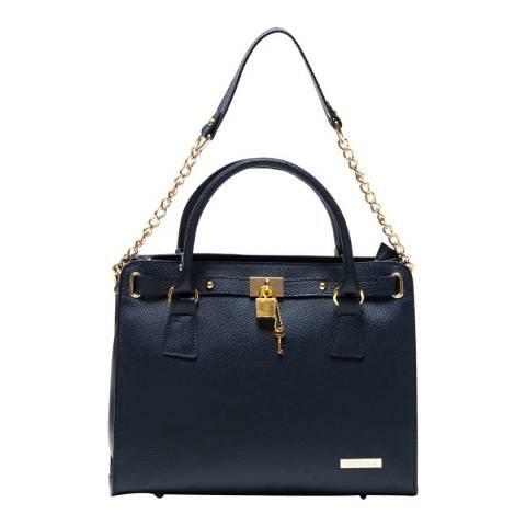Roberta M Blue Leather Shoulder Bag
