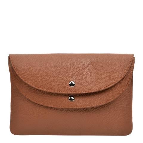 Roberta M Brown Leather Shoulder Bag