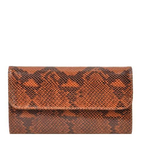 Roberta M Brown Leather Clutch Bag