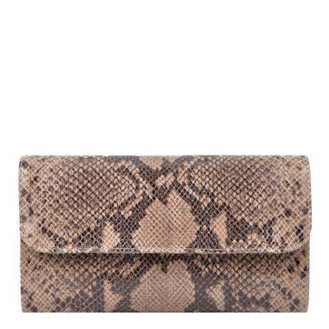 Roberta M Rust Leather Clutch Bag